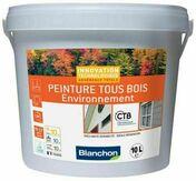 Peinture tous bois environnement satin ral 9016 blanc - pot 10l - Peintures bois microporeuse - Aménagements extérieurs - GEDIMAT