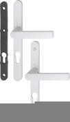 Poignée sur plaques étroites avec mousse avec carré à montage rapide Hamburg blanc signalisation clé I - Quincaillerie de fenêtres - Quincaillerie - GEDIMAT