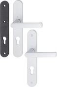 Poignée sur plaques étroites poignée à saillie réduite extérieur avec mousse avec carré à montage rapide Hamburg blanc signalisation clé I - Quincaillerie de fenêtres - Quincaillerie - GEDIMAT
