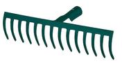 Rateau acier forgé 14 dents courbes sans manche - Outillage du jardinier - Plein air & Loisirs - GEDIMAT