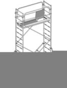 Echafaudage roulant EVOLIS 200 en acier galvanisé plancher aluminium et bois larg.60cm long.190cm haut.11m maxi - Echelles - Echafaudages - Goulottes - Matériaux & Construction - GEDIMAT