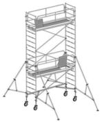 Echafaudage roulant EVOLIS 300 en acier galvanisé plancher aluminium et bois larg.76cm long.290cm haut.14m maxi - Tuile 2/3 pureau CANAL S coloris Saintonge - Gedimat.fr