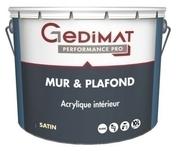Peinture déco acrylique mur & plafond satin blanc 10L GEDIMAT PERFORMANCE PRO - Enduit de lissage mural en pâte BOSTIK tube de 330gr - Gedimat.fr