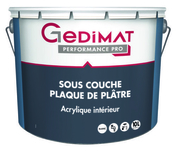 Sous-couche plaque plâtre déco acrylique 10L GEDIMAT PERFORMANCE PRO - Sol stratifié LIVING EXPRESSION SENSATION MODERN ép.8mm larg.190mm  long.1286 mm finition Chêne de prairie - Gedimat.fr
