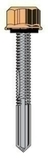 Vis TETALU P13 diam.5,5mm long.35mm TK12 + rondelle, pour fixation de bardage bacs acier sur panne acier �p.5 � 13mm, RAL 9010 - boite de 100 pi�ces - Quincaillerie de couverture et charpente - Quincaillerie - GEDIMAT